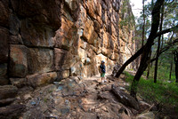 At the base of the Breadknife, Warrumbungle National Park