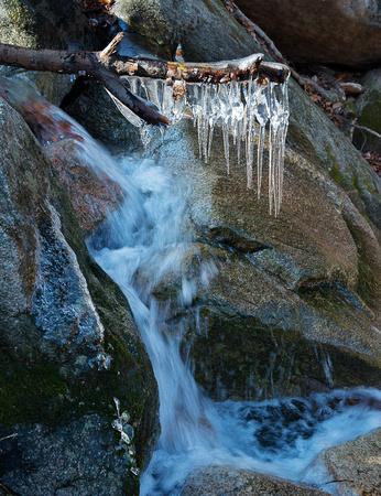 Cascade with ice