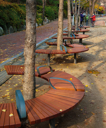 Seats in a park