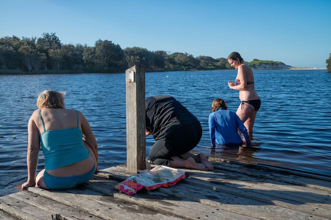 Swimming in Lake Arragan