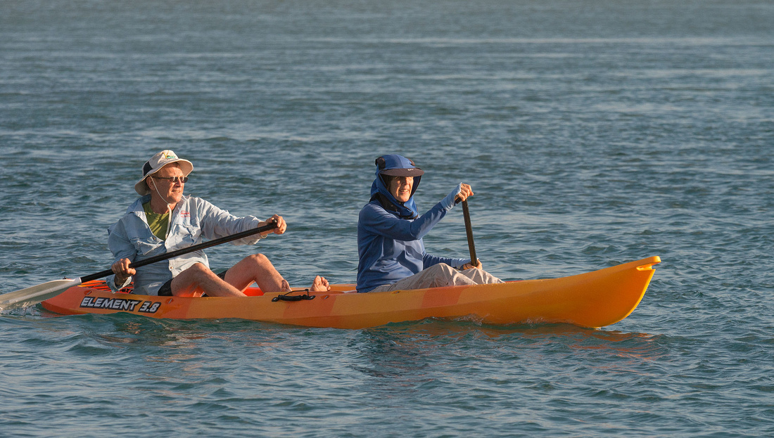 Rob and Marg in the Kayak