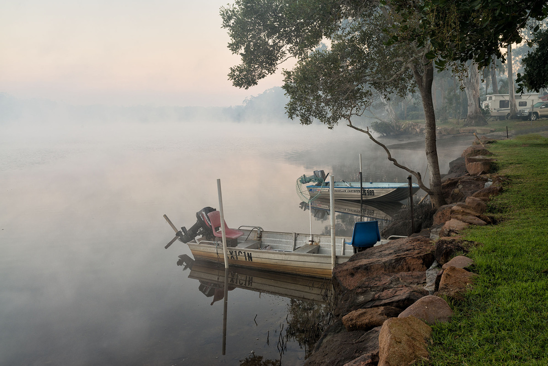 Early morning mist on the Wooli Wooli river