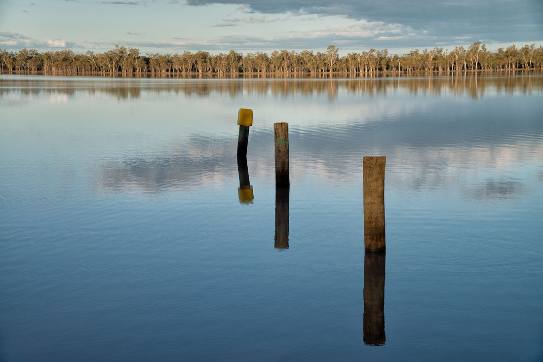 Lake Broadwater in the afternoon light