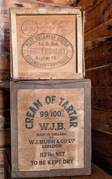 Shipping cases, Miles Historical Museum