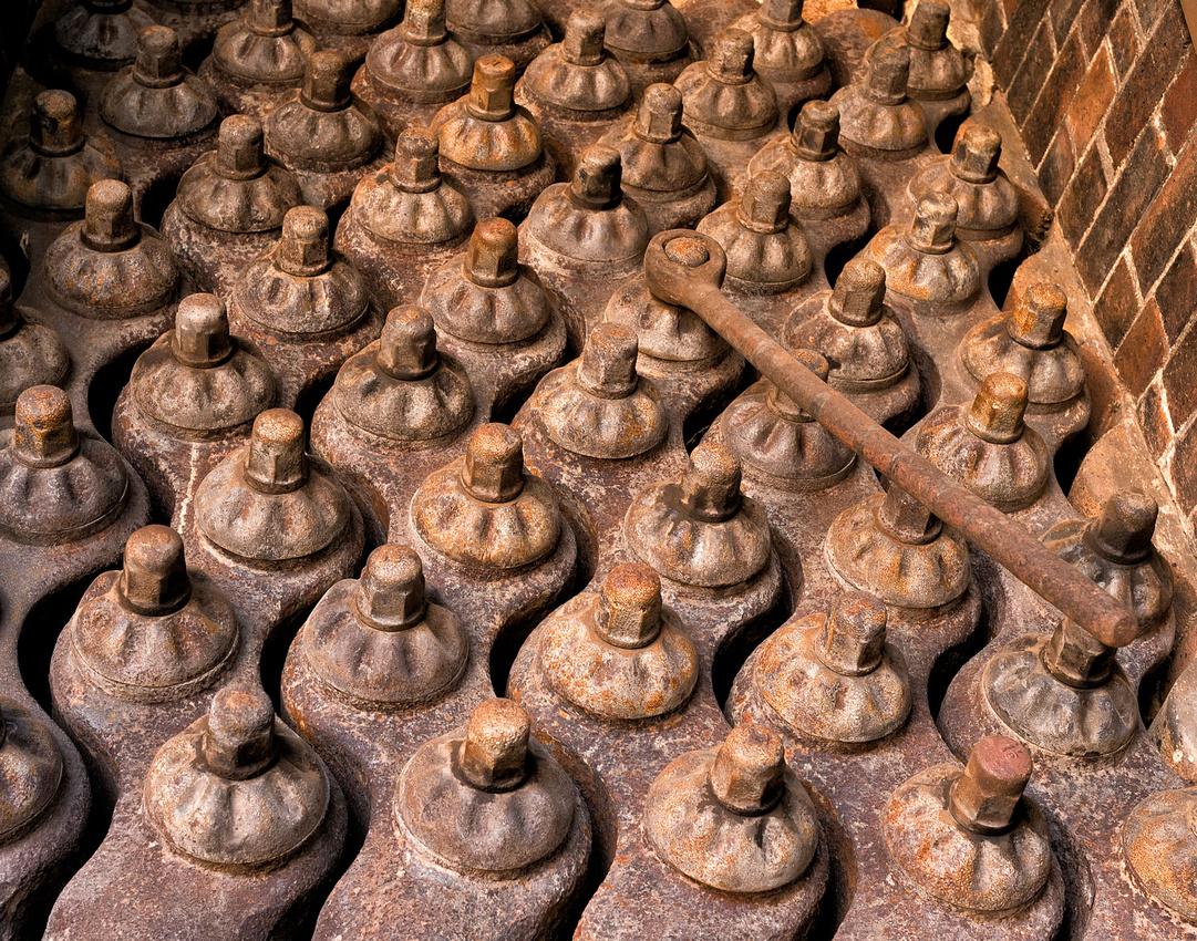 Boiler tubes in  disused boiler, Blackall Wool Scour