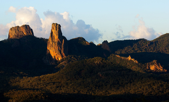 Crater Bluff and Belougery Spire, Warrumbungle National Park
