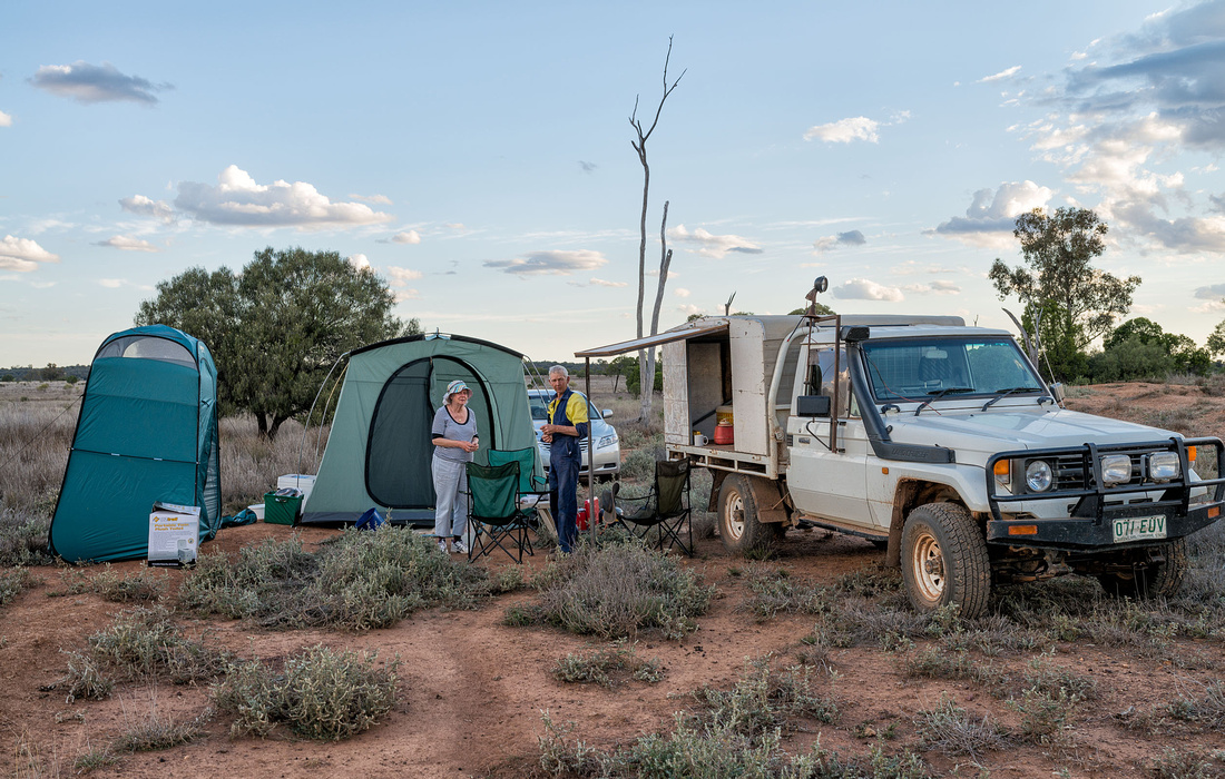 Camping in the sheep paddock