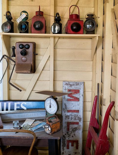 Railway Memorabilia, Miles Historical Museum