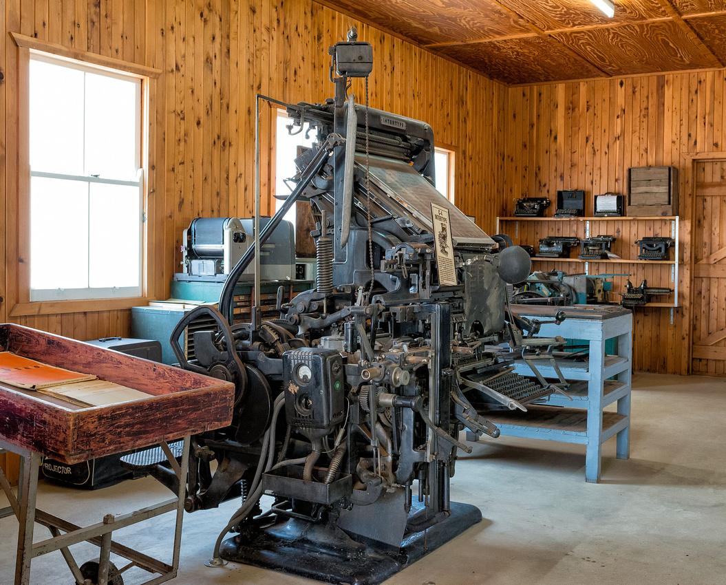 Print shop,, Miles Historical Museum