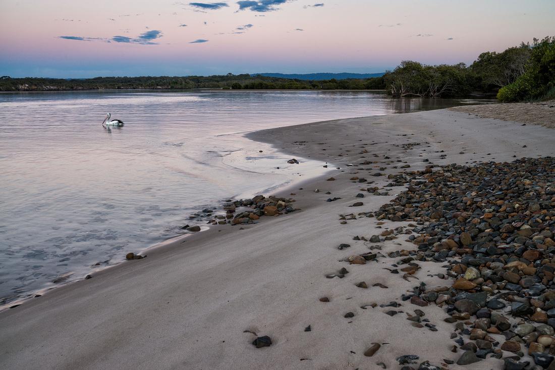 Sandon River before sunrise
